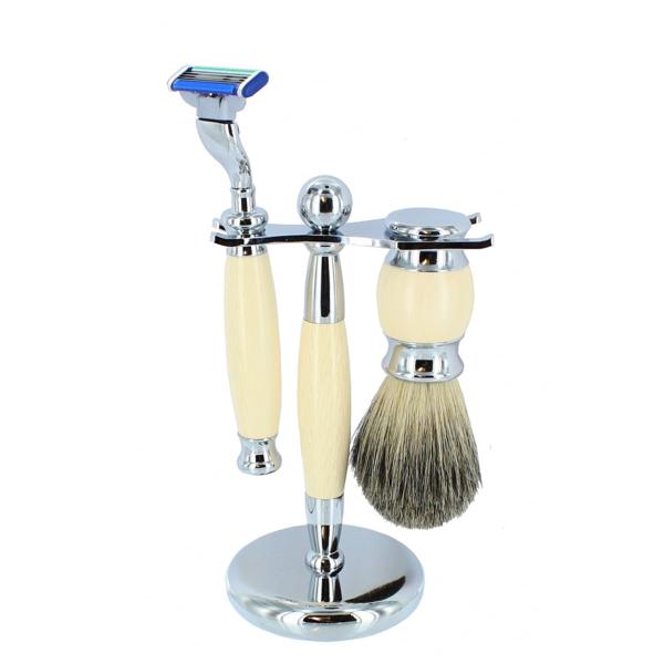 Set barbierit din 3 piese - H13 - Crem