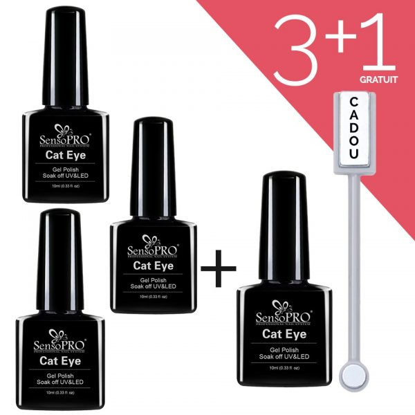 Set Oja Semipermanenta Cat Eye SensoPRO 3 + 1 GRATUIT